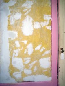 spackling with drywall mud