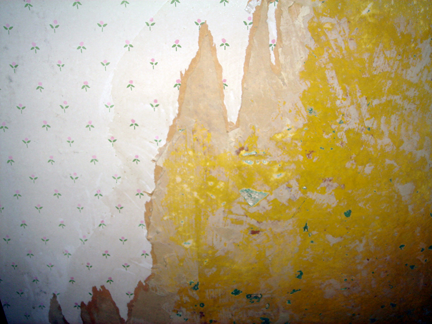 stripped wallpaper closeup